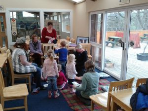 Storytime at Cream o'Galloway.