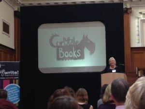 Shalla Gray gives a presentation at the Reading Agency Day