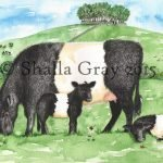 Print of the Beltie Bairns