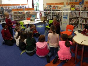 Marble fun at Stranraer Library.