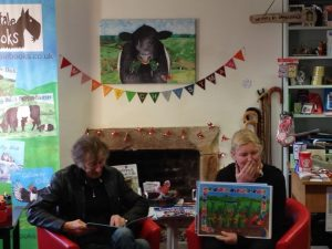 Alan Grant and Shalla Gray at the launch of Sammy the Rainbow Snail
