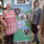 Shalla and Jayne with the new roller banner