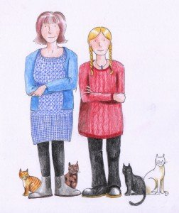 Jayne and Shalla, author and illustrator of Big Bill's Beltie Bairns